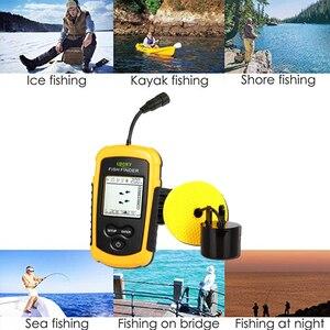 Image 4 - Lucky Fish Finder Voor Boot Vissen Draagbare Ijsvissen Finder Accessoires Sonar Sensor Dieptemeter Bedrade Fishfinder FF1108 1