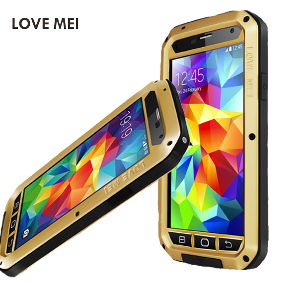 buy online 6c74f 4fdd5 US $59.0 |LOVE MEI Case For Samsung Galaxy S5 i9600 Gorilla Glass +  Aluminum Metal Cover Waterproof Shockproof Powerful cell Phone Case on ...