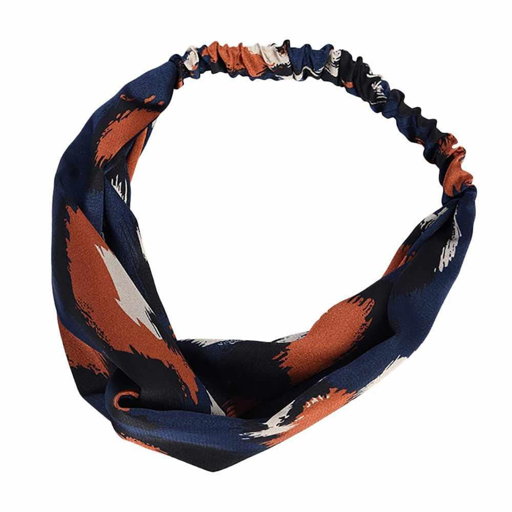 Leopard Twist Knot Cross Hair Hoop Headband Women Band Boho Headwear Accessories