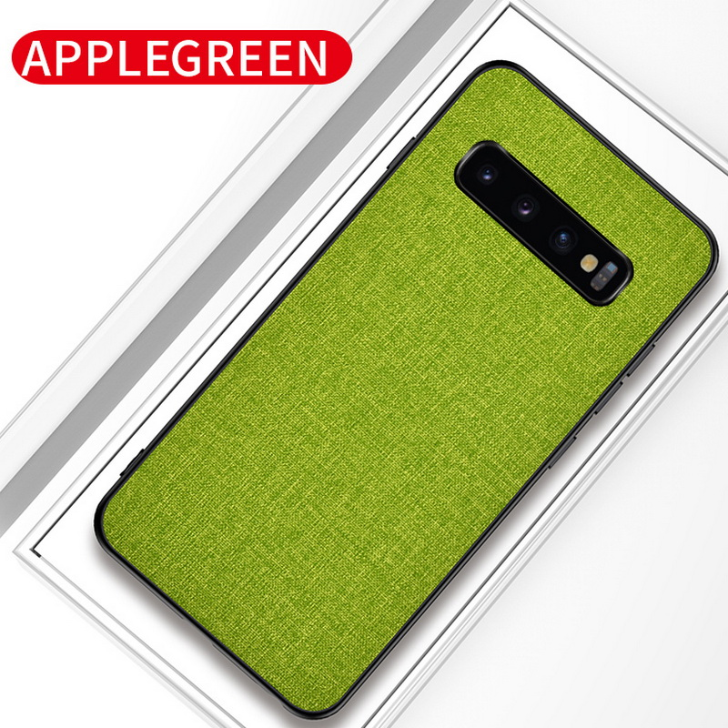 Luxury Slim Soft Fabric Cloth Back Skin Cover Coque For Samsung Galaxy S10 15