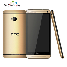 Original The HTC ONE M7 Unlocked GPS WIFI 4.7''TouchScreen 4MP camera 32GB Andriod 4.12 Cell Phone Free Shipping
