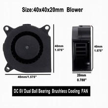 Gdstime 5 pcs DC 5V 0.2A 2Pin 4cm 40mm x 20mm Small Cooling Blower Fan Turbo Cooler 40x20mm 4020