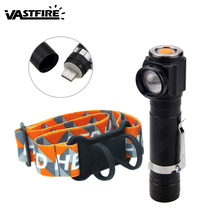 18650 Camping Headlamp 1000 Lumens 4 modes Zoom Focus T6 Right Angle Light Outdoor Multifunctional focusing headlight