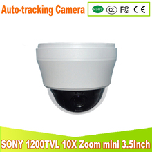 YUNSYE AutoTracking High speed Zoom 10X 1/3SONY CCD 1200TVL Outdoor PTZ Security Surveillance CCTV 700TVL Auto-Tracking CAM