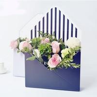5 pcs 23.5x8x17cm Mini Creative Envelope Fold Flower Box Flowers Box Material Rose Decoration Gift Box Flower Making Hand