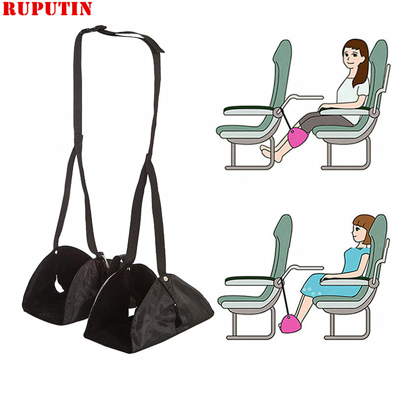 RUPUTIN Travel Footrests Flight Carry-on Adjustable Foot Rest Portable Pad Essential Airplane Train Accessories