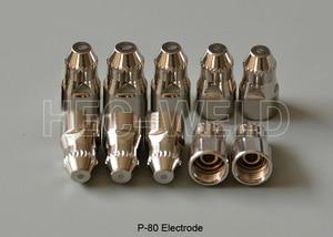 Image 4 - P80 قطع البلازما الهوائية شعلة المواد الاستهلاكية نصائح البلازما فوهات 1.5 مللي متر 100Amp أقطاب البلازما جودة قطع سكين 45PK