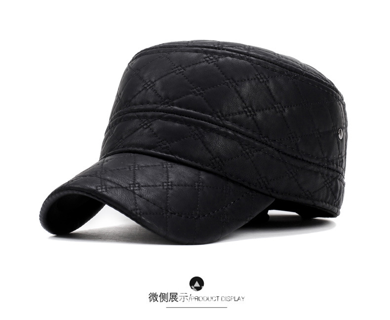 Hat female spring and summer fashion plaid baseball caps men and women couples travel cap Korean version of the wild bend skull men hat europe and the united states fashion leather simple autumn and winter wild baseball cap out fashion hot sale