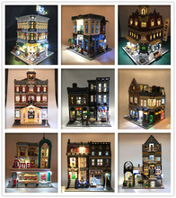 Street view series Creator Expert Led Light Set For Compatible IEGOset 10251 10182 1022 10197 Building Blocks bricks Toys Gifts недорого