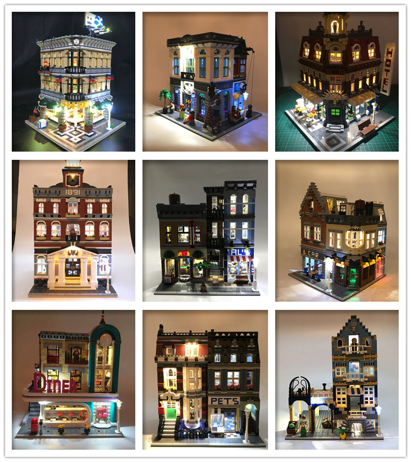 Street view series Creator Expert Led Light Set For Compatible IEGOset 10251 10182 1022 <font><b>10197</b></font> Building Blocks bricks Toys Gifts image