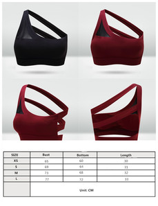 Image 5 - Mermaid Curve 2020 New Oblique One Shoulder Strap Womens Sports Bra Hollow out Back Lines Strenuous Exercise fitness bra Tops
