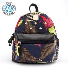 2018 femmes petit sac à dos cartable féminin toile impression a sacs d'école pour filles mini