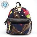 2018 women small backpack  schoolbag feminine canvas printing sac a dos school bags for girls female mini backpacks