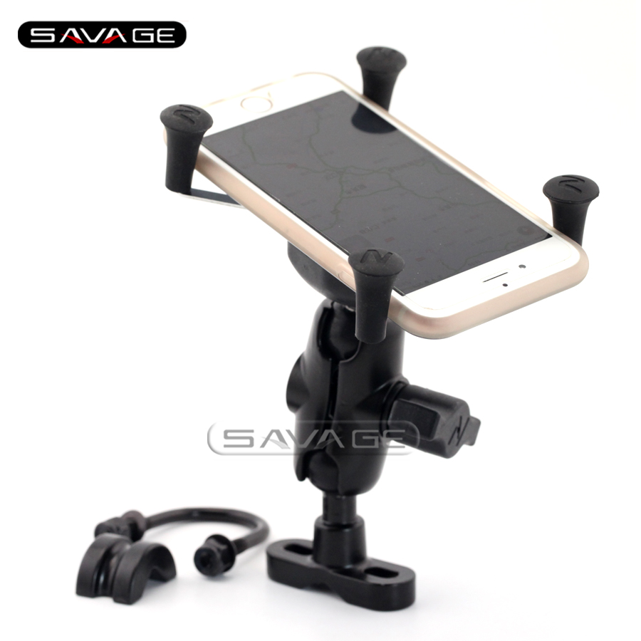 X-Grip Phone Holder For DUCATI Monster S4 S4R M400 M600 M620 M750 M900 Motorcycle GPS Navigation Bracket U motorcycle accessories custom fairing screw bolt windscreen screw for ducati monster m400 m600 m620 m750 m900 st2 st4 s abs