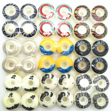 4 pçs/set 101A qualidade MENINA branca Pro Skates Kaykay 50 52mm Rua Skate Rodas De Skate Rodas do PLUTÔNIO com um pouco amarelo