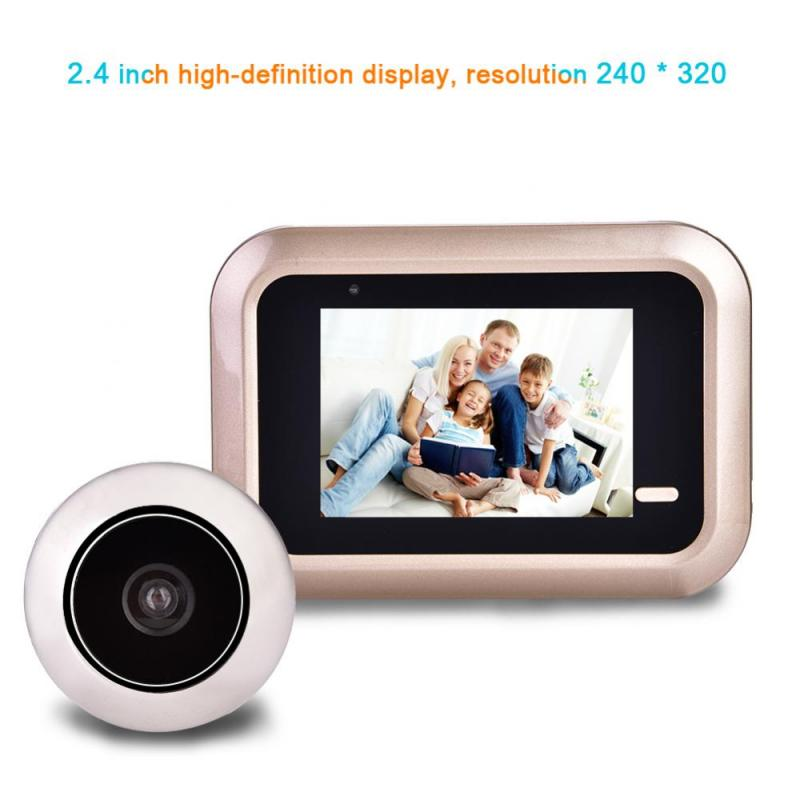 2.4inch Home Security Night Vision PIR Peephole Door Viewer Camera Battery Powered Electronic Door Bell LCD Color Screen x5 home smart doorbell security door peephole camera electronic cat eye and hd pixels tft color screen display audio door bell