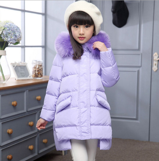 2017 winter Fashion Girl's Down jackets/coats baby Girl winter Coats thick duck Warm jacket Children Outerwears for 120-150cm fashion 2017 girl s down jackets winter russia baby coats thick duck warm jacket for girls boys children outerwears 30 degree