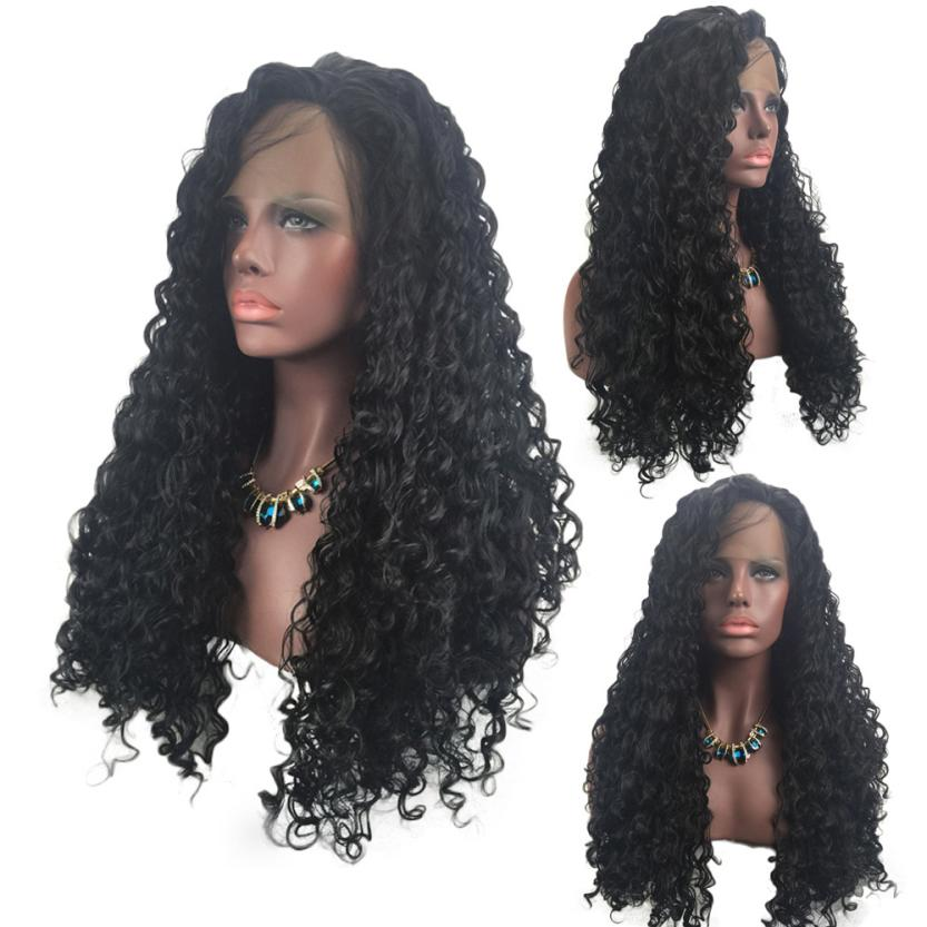 Fashion Synthetic Curly Hair Wigs Woman Short Kinky Hair Jet Black Heat Resistance Fiber 0629 kinky curly filipino virgin hair 4 bundle deals fast shipment 8a filipino curly weave human hair curly filipino hair extensions