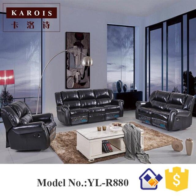 Importación muebles Malasia Sala reclinable conjunto diseños ...