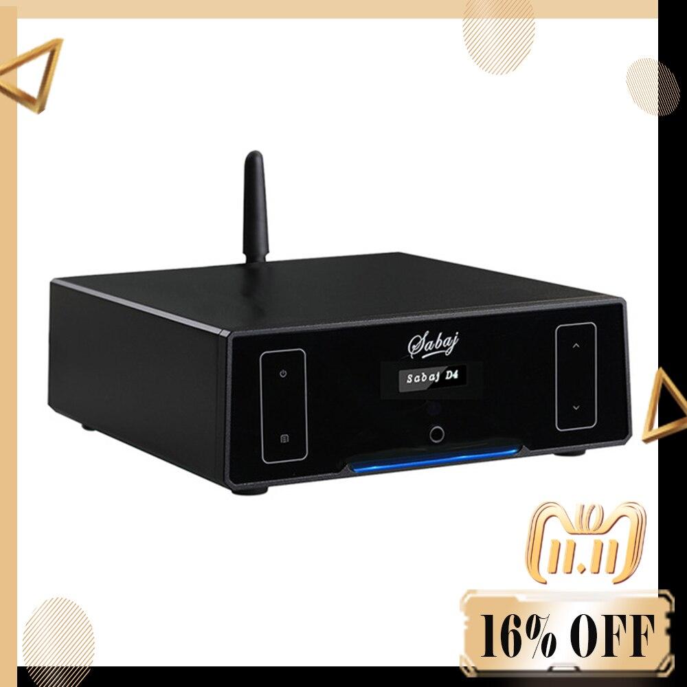 Sabaj D4 HIFI DSD512 PCM768 Protable DAC And Headphone Amplifier AK4452 BT4.2 Support Bluetooth Optical Coaxial USB Input цена