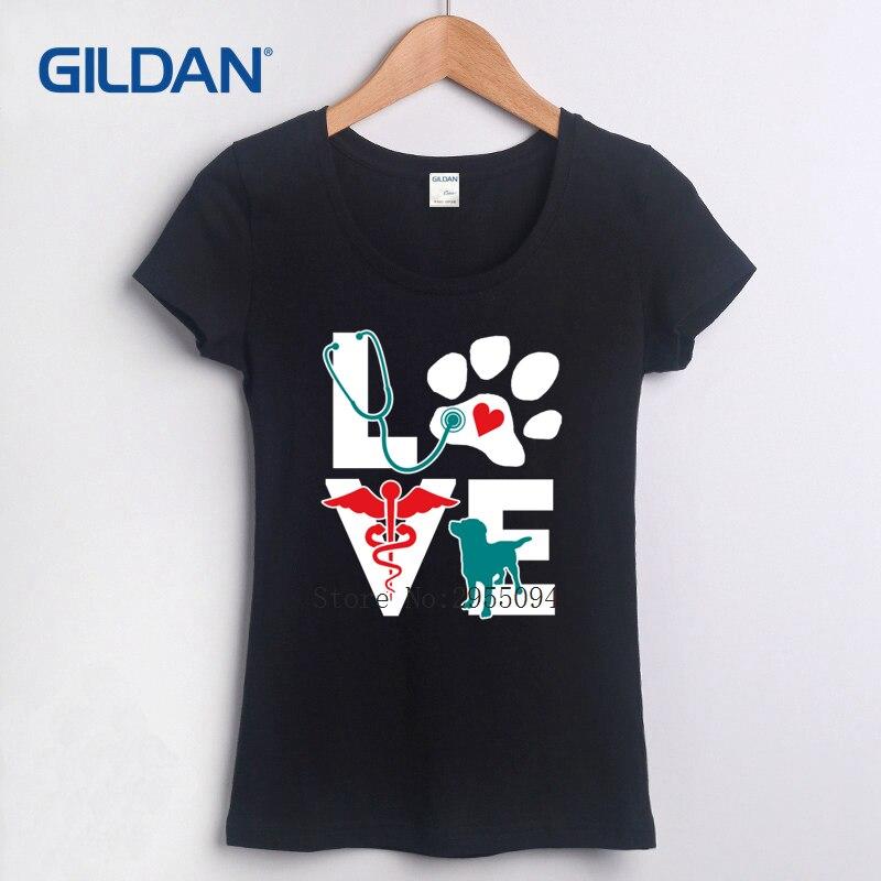 Drôle Graphique T-shirt 2018 AMOUR Médecine Vétérinaire Chemise, mignon Lettres Cadeau Graphiques T-shirt D'été T-Shirt pour Vente En Ligne