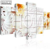 Full Square Drill Diamond Embroidery Welcome Home 5D DIY Diamond Painting Cross Stitch Multi Picture