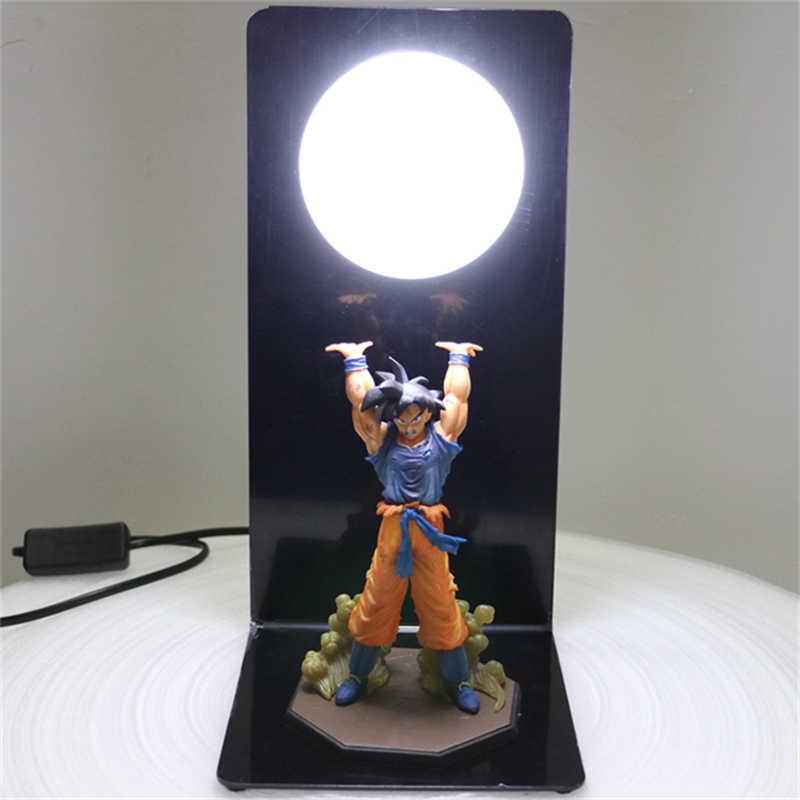 Dragon ball z figuras de ação goku filho estatueta collectible diy anime modelo bonecas do bebê lâmpada led para crianças brinquedos natal