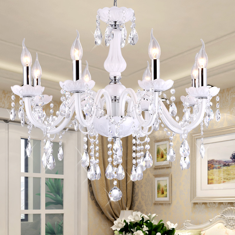 Modern Crystal Chandelier LED Hanging Lighting European Style Glass Chandeliers Light for Living Dining Room Restaurant lighting chandelier lighting crystal luxury modern chandeliers crystal bedroom light crystal chandelier lamp hanging room light lighting