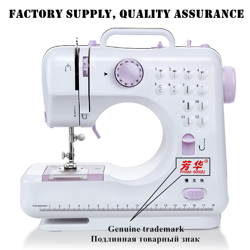 Manual ruso Fanghua marca FHSM505 máquina de coser de fábrica de punto eléctrico Mini portátil DC Power Pedal de pie