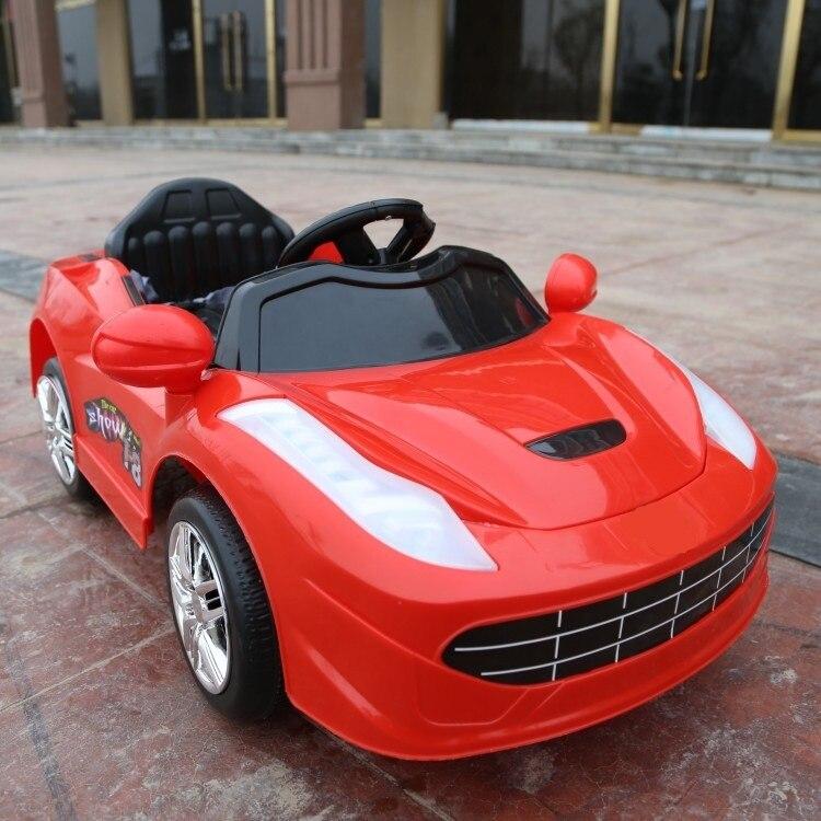 Livraison gratuite 75 jours!! Le moins cher avec télécommande enfants tour électrique sur voiture véhicule quatre roues motrices bébé jouets assis