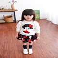 1 A Retail! Spring Autumn New Fund New Cartoon Blouse And Skirt Of The Girls  Suits Clothing Set   Free Postage