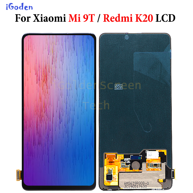 6 39 AMOLED LCD xiaomi mi 9T redmi K20 lcd display touch Screen Digitizer Assembly redpair