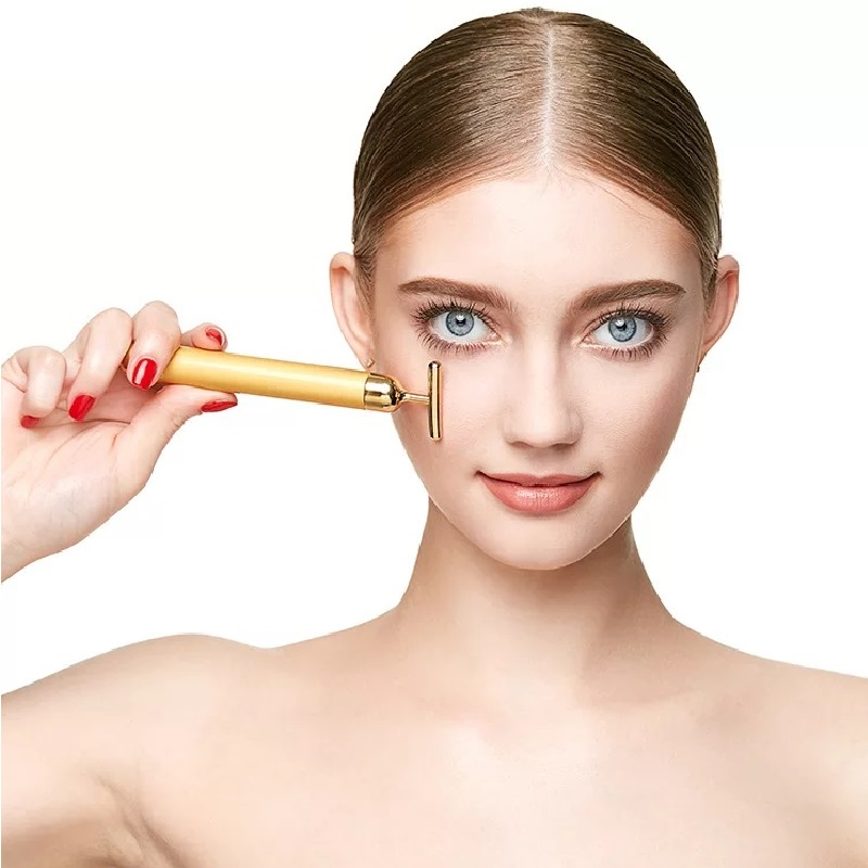 все цены на Japanese Beauty Instrument 24K Golden Beauty Bar Face Massager Body Shaping Tools Anti Wrinkles Face Lift Tools Massage Machine