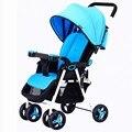 Ultra light 4.5 kg carrinho de bebê sentar e deitar dobra em plano de caixa de viagem do bebê carrinho de bebê