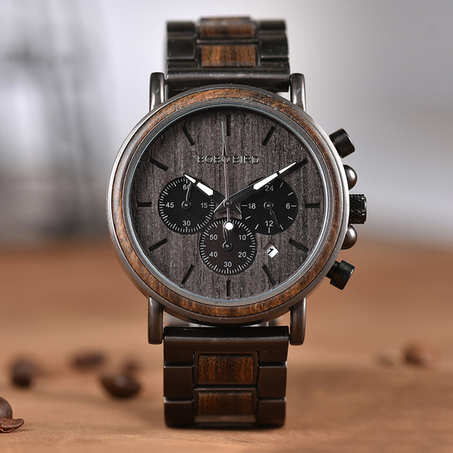 Unique Dial Bamboo Wooden Wrist Watch