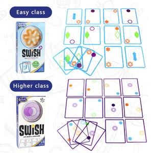 Image 3 - 논리 게임 swish 재미있는 투명 교육 카드 게임 어린이를위한 논리 게임 카드 놀이 명소 보드 게임 어린이를위한 장난감