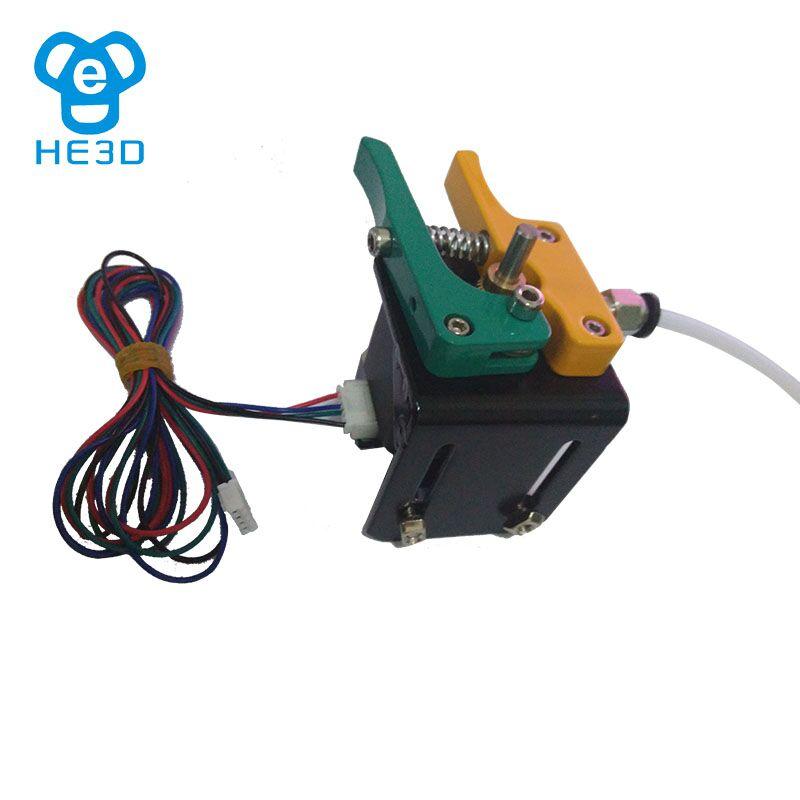 HE3D full metal MK8 extrudeuse pièces kit avec NEMA17 moteur câble connecteur PTFE tube pour 3d imprimante accessoires