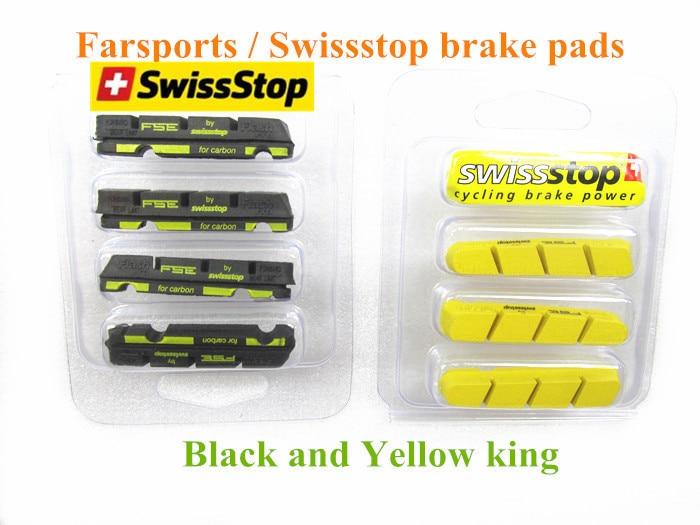 set of 4 SwissStop Black Prince Brake Pads for Carbon Rims Campagnolo