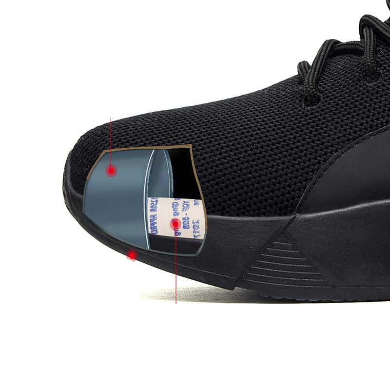 Biqueira de Aço Sapatos de Segurança do Trabalho dos homens de Moda Tênis Ao Ar Livre Calçados Esportivos Masculinos Sapatos Leves Respirável Sapatos Masculinos de Verão