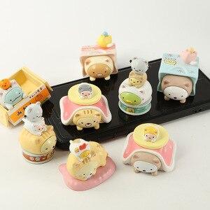 Image 5 - JY 8 шт./лот, японская одежда, милая серия кошек, декоративные фигурки существ, виниловые куклы WJ01