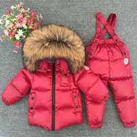 Baby Girl Winter Clothes Onesie Children Clothing Set Ski Suit Kids Jumpsuit Warm Coats Duck Down