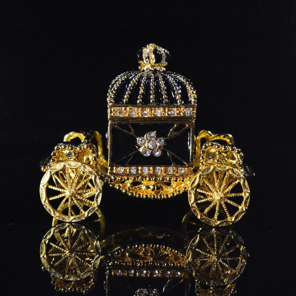 QIFU Europe Art Craft Beautiful Carriage Jewelry Box