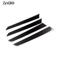 Carbon Fiber Car Interior Co pilot Dashboard Panel Decal Cover Trim Strips For Audi A4 B8