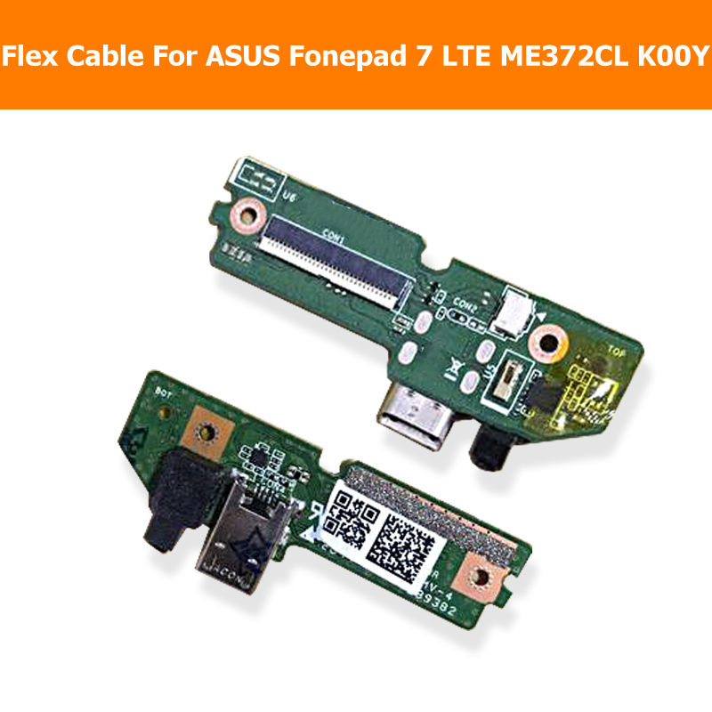 Genuine USB PCB port Flex Cable charger For ASUS Fonepad 7 LTE ME372CL K00Y Jack port board Flex Cable with USB connector module original usb charging dock charger port flex cable for iphone 7 high quality headphone audio jack connector flex cable