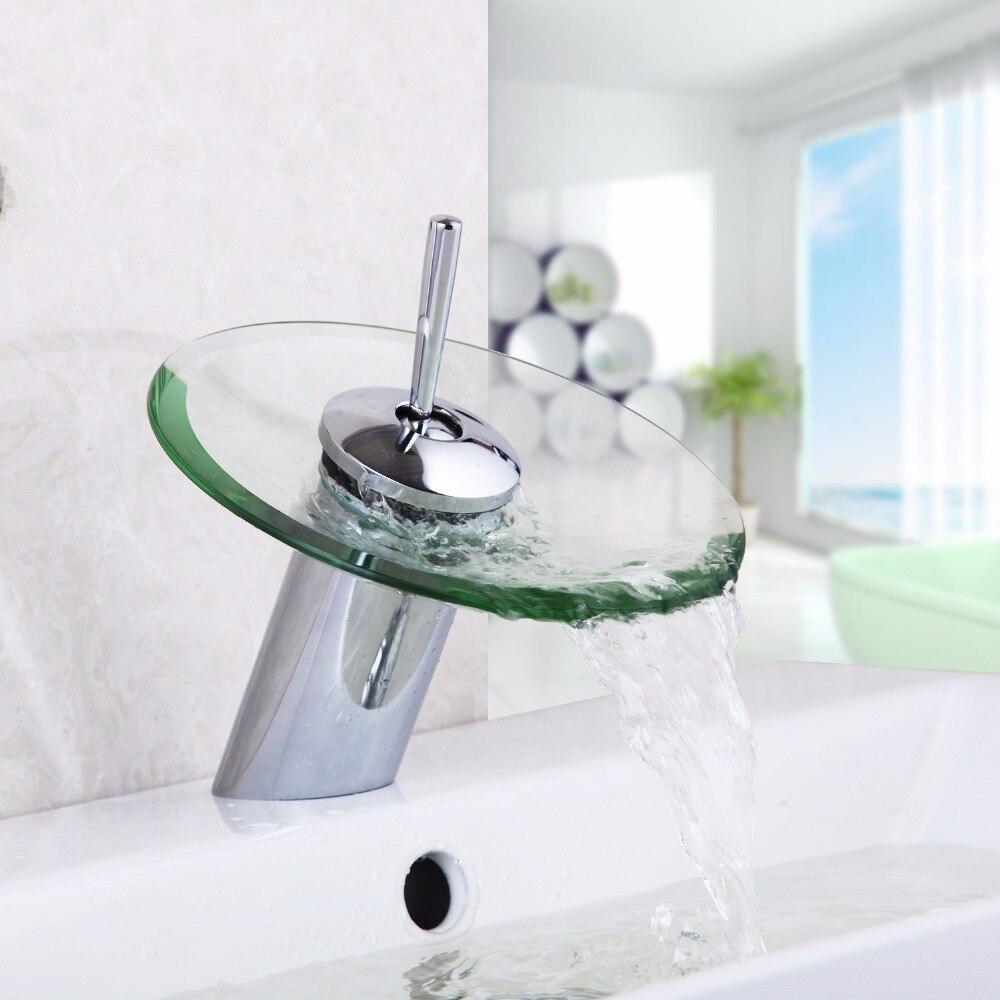 ru bagno rubinetto cascata di vetro rubinetto miscelatore rubinetti bagno bacino rubinetto in ottone cromato rubinetti