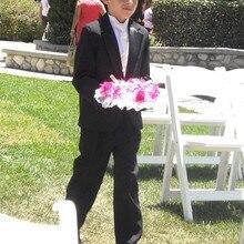 Мужской костюм на заказ, черный костюм, свадебное платье, классический костюм жениха, смокинг, пиджак со штанами(пиджак+ галстук-бабочка+ брюки
