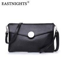 EASTNIGHTS 2017 New Women Clutch Bags Genuine Leather Crocodile Pattern Envelope Shoulder Ladies Small Messenger Handbag TW2816
