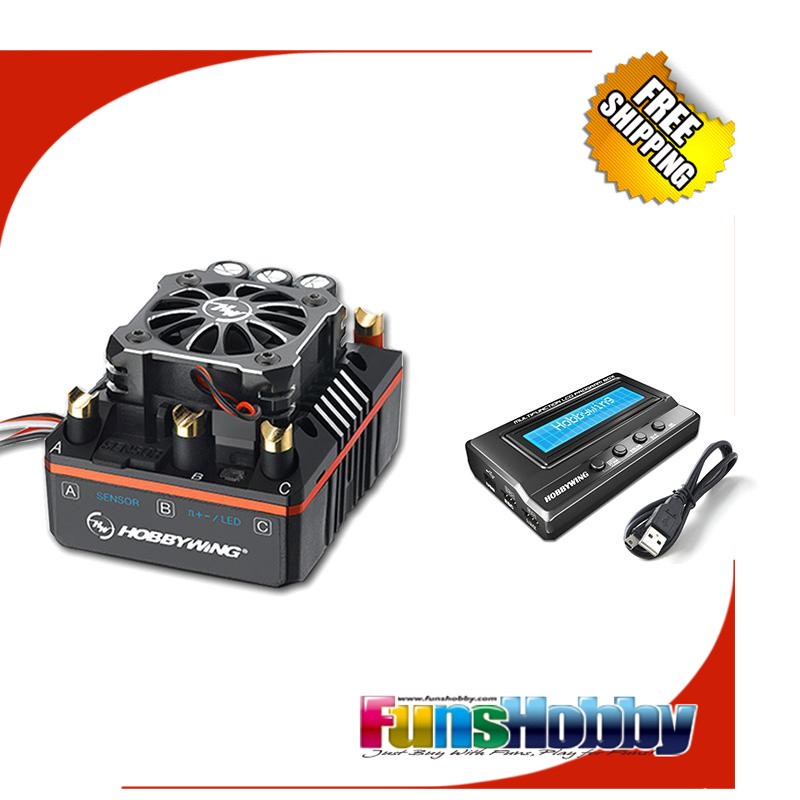 Hobbywing XERUN XR8 PLUS 150A RC ESC Speed Controller Program Card 3IN1 Power Combo for Buggy