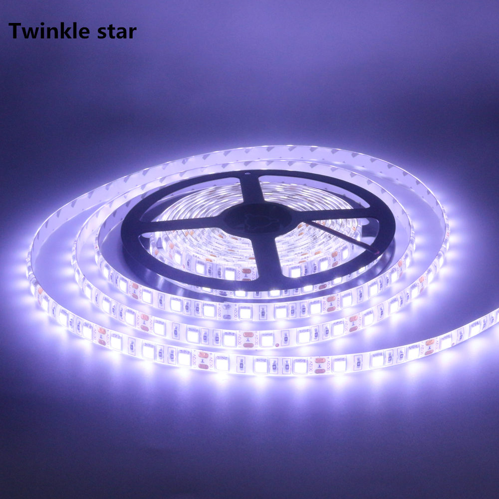 Led Strip Light 5050 300led 5m Waterproof Ip65 Dc 12v 6500k 3000k Warm White Pink Rgb Red Blue Green Flexible Led Tape Rope