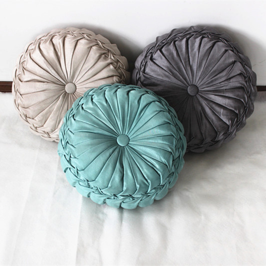 VEZO HOME handmade round sofa decorative cushions plush pillows throw pillowcase sofa chair home ...